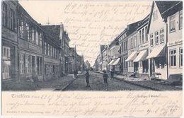 TRIBSEES Lange Heerstrasse Geschäfte Fritz Bergholz Tischlerei Carsten Gustav Ramelow 6.2.1907 Gelaufen - Grimmen