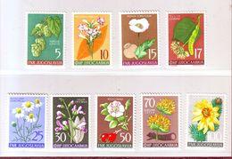 YOUGOSLAVIE  YT N° 667/675. Plantes Diverses 1955 - Neuf ** - Neufs