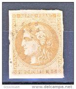 Francia 1870 Cérès (Bordeaux) N. 43B C. 10 Bistro Giallo  Usato Ca. € 100 - 1849-1850 Ceres