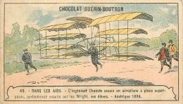 CHROMO  GUERIN BOUTRON     DANS LES AIRS - Guérin-Boutron