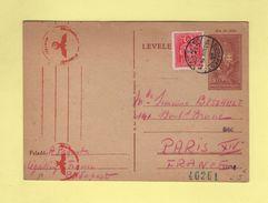 Budapest - Hongrie - Legation France - Censure - 24 Nov 1941 - Guerra De 1939-45