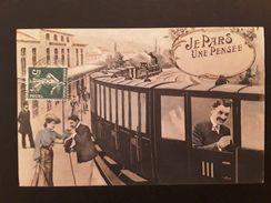 CPA Je Pars Une Pensée Train Luneville - Männer