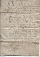 1595 - Acte Sur Parchemin De Vente D'un Pré Et D'un Moulin - Puy De Dôme - Lieu Dit Rochas ? 8 P - Manuscripten