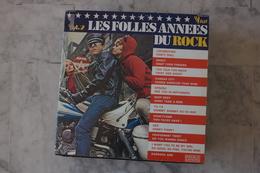 LES FOLLES ANNÉES DU ROCK DOUBLE LP  DE 1974 POCHETTE MOTO.THE CADILLACS.BUDDY KNOX ECT - Rock