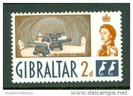 Gibraltar: 1960/62   QE II - Pictorial    SG162    2d        MH - Gibraltar