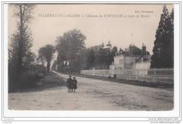03 - Villeneuve Sur Allier - Chateau Du Pavillon Et Route De Nevers - Autres Communes