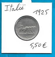 Italië - 50 Centesimi 1925 R - 1861-1946 : Royaume