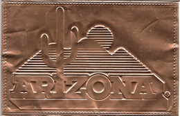 Copper Covered, Engraved Postcard From Arizona USA (5434) - United States