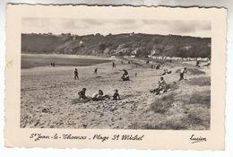 1954 - CPSM - Saint-Jean-le-Thomas - La Plage Saint-Michel - FRANCO DE PORT - Other Municipalities