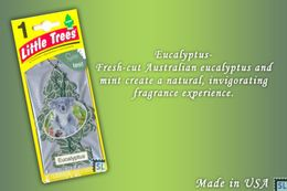 Eucalyptus, LITTLE TREES CAR-FRESHNERS, Carded Air Fresheners, Made In USA, NEW - Accessories