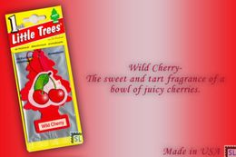 Wild Cherry, LITTLE TREES CAR-FRESHNERS, Carded Air Fresheners, Made In USA, NEW - Accessories