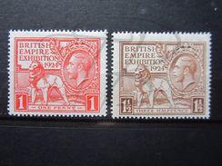 VEND TIMBRES DE GRANDE-BRETAGNE N° 171 + 172 , NEUFS SANS CHARNIERE !!! - 1902-1951 (Rois)