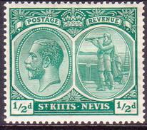 ST KITTS_NEVIS 1921 SG #37 ½d MH Wmk Mult. Script CA - St.Christopher-Nevis-Anguilla (...-1980)