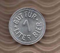 BIER TOKEN - 1 LITER - Fletzinger Brau -  Wasserburg - Profesionales/De Sociedad