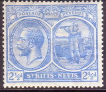ST KITTS_NEVIS 1922 SG #42 2½d Pale Bright Blue MH Wmk Mult. Script CA - St.Christopher-Nevis-Anguilla (...-1980)