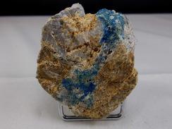 AZURITE SUR GANGUE 5 X 4,5 Cm CHESSY - Mineralien