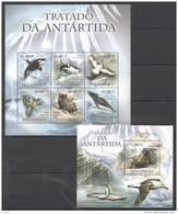 V501 2011 MOCAMBIQUE FAUNA MARINE LIFE TRATADO DA ANTARTIDA KB+BL MNH - Vie Marine