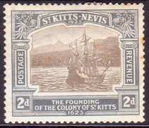 ST KITTS_NEVIS 1923 SG #51 2d MH Tercentenary Of Colony - St.Cristopher-Nevis & Anguilla (...-1980)