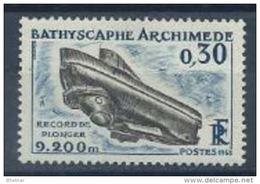 """FR YT 1368 """" Bathyscaphe Archimède """" 1963 Neuf** - Nuevos"""