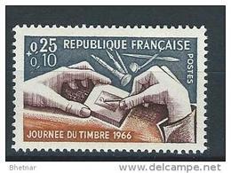 """FR YT 1477 """" Journée Du Timbre """" 1966 Neuf** - France"""