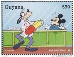 Goofy And Mickey Pharmacist, Pharmacy   Disney  MNH Guyana - Pharmacy