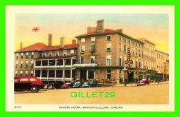 BROCKVILLE, ONTARIO - REVERE HOUSE - ANIMATED WITH OLD CARS - BOND STREET SERIES -  VALENTINE-BLACK CO LTD - - Brockville