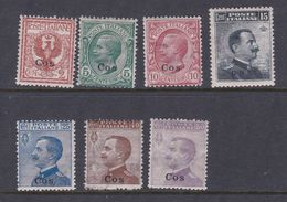Italy-Colonies And Territories-Aegean-Coo S 1-7  1912 Set, Mint Hinged - Aegean (Coo)