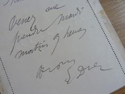 Ernest DUEZ (1843-1896) Peintre, Illustrateur, Portraitiste. [ Eléve PILS & Carolus Duran ] Autographe - Autographes