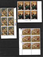 GB QEII 1967 Christmas, Full Set In MNH Corner Blocks Of 6 (5188) - Blocks & Miniature Sheets