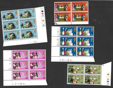 GB QEII 1970 Anniversaries, Full Set In MNH Blocks Of 4 Or 6 (5181) - Blocks & Miniature Sheets