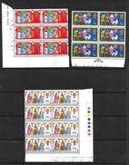 GB QEII 1969 Christmas, Full Set In MNH Blocks Of 6 Or 8 (5185) - Blocks & Miniature Sheets