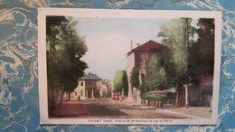 Cpa POISSY - Avenue De St-Germain Et Rue De Paris - Poissy