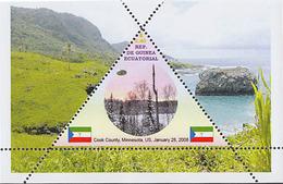 UFO  GUINEA ECUATORIAL  TRIANGULAR STAMP 6 Sheets (Mint NH) - Space