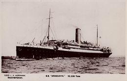 PAQUEBOT : S.S. ARAGUAYA - C. R. HOFFMANN / SOUTHAMPTON - CARTE VRAIE PHOTO / OLD REAL PHOTO POSTCARD - 1910 (w-781) - Steamers