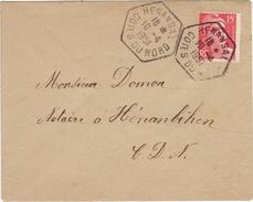 COTES DU NORD - Henansal- Enveloppe -CAD -TypeE7 - 1951 - Marcophilie (Lettres)