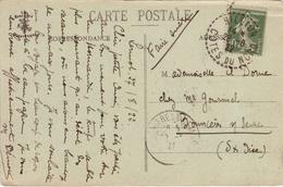 COTES DU NORD - Hillion- Carte Postale -CAD -TypeB4 - 1922 - Marcophilie (Lettres)