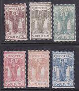 Italy-Colonies And Territories-Somalia S86-91 1926 Italian Colonial Institute Set, Mint Hinged - Somalia