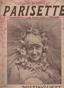 Partition Grand Format  : Parisette ( Crée Par MISTINGUETT) 1928 (MPA D 016) - Partitions Musicales Anciennes