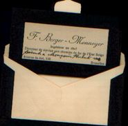 Carte De Visite (période De Deuil) De F. Berger –Directeur De Service Aux Chemins De Fer De L'Etat Belge - Chemin De Fer