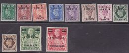 Italy-Occupied Colonies-British Occupation S 21-31 1950 British Stamps Overprinted B.A Somalia, MNH - British Occ. MEF