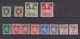 Italy-Occupied Colonies-British Occupation Tripolitania S 14-25 1950 British Stamps Overprinted  B.A Tripolitania, MNH - British Occ. MEF