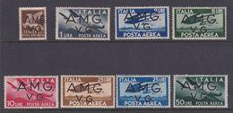 Italy-Trieste -1945-47 Venezia Giulia AMGVG, A 1-8 Definitives, Mint Hinged - 7. Trieste