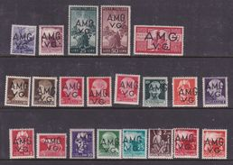 Italy-Trieste -1945-47 Venezia Giulia AMGVG, S 1-21 Definitives, Mint Hinged - 7. Trieste