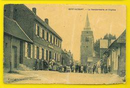 BERTINCOURT La Gendarmerie Et L'Eglise (Watel) Pas De Calais (62) - Bertincourt