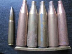Clip Mit 5 Stück 7,92x94 Patronenhülsen Platz 318 Inert DEKO - Decorative Weapons