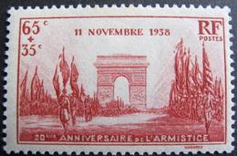 LOT BP/208 - 1938 - 20e ANNIVERSAIRE DE LA VICTOIRE - N°403 NEUF* (quasi **) - Unused Stamps