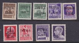 Italy-WW II Occupation -Yugoslavian Occupation-Istria, 1945 S 22-30, Mint Hinged - Yugoslavian Occ.: Istria