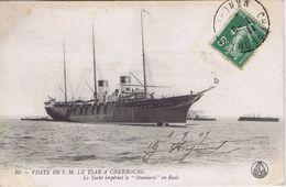 """50 - Cherbourg (Manche) - Visite De S. M. Le Tsar -Le Yacht Impérial Le """"Standard"""" En Rade - Cherbourg"""