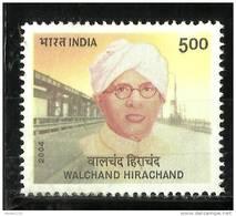 INDIA, 2004,  Walchand  Hirachand,  Started Ship, Airplane & Car Factory, MNH, (**) - India