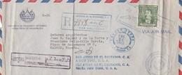AIR MAIL FIRST FLIGHT 1952 - EL SALVADOR - BLEUP - El Salvador